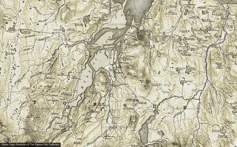 Old Map of Tongue, 1910-1912 in 1910-1912