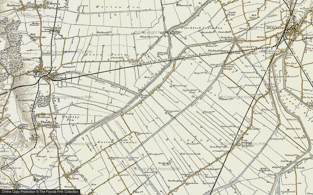 Old Map of Tongue End, 1901-1903 in 1901-1903