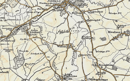 Old map of Tongwell in 1898-1901