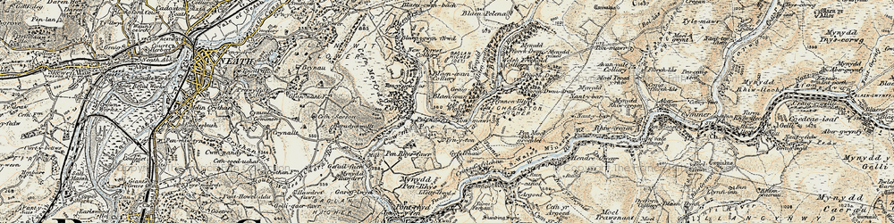 Old map of Tonmawr in 1900-1901