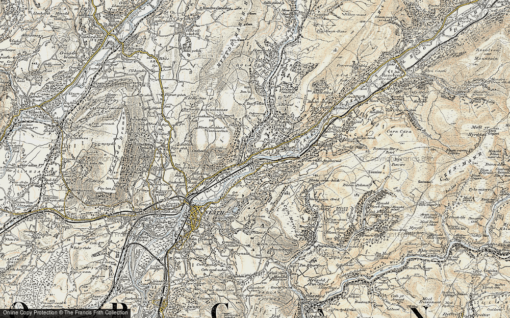 Old Map of Tonna, 1900-1901 in 1900-1901