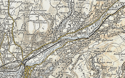 Old map of Tonna in 1900-1901