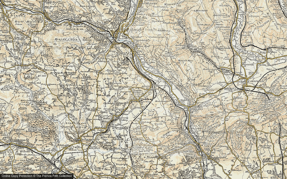Old Map of Tonteg, 1899-1900 in 1899-1900