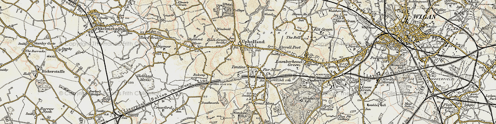 Old map of Tontine in 1903