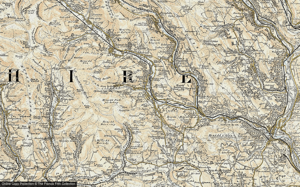 Old Map of Tonypandy, 1899-1900 in 1899-1900