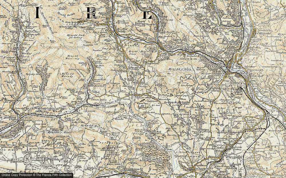 Old Map of Tonyrefail, 1899-1900 in 1899-1900
