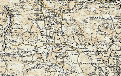 Old map of Tonyrefail in 1899-1900