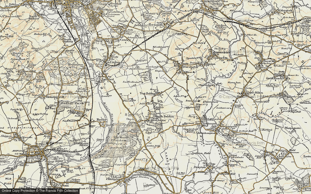 Old Map of Toot Baldon, 1897-1899 in 1897-1899