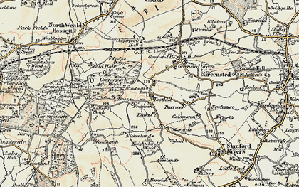 Old map of Toot Hill in 1898