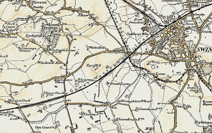 Old map of Toothill in 1897-1899