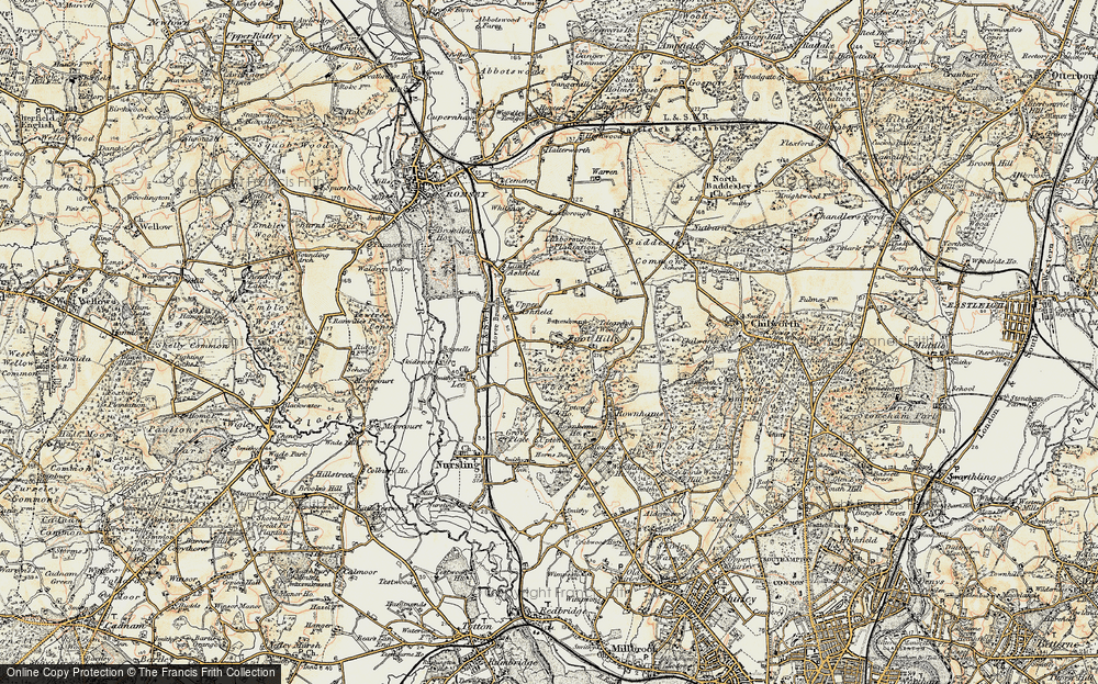 Old Map of Toothill, 1897-1909 in 1897-1909