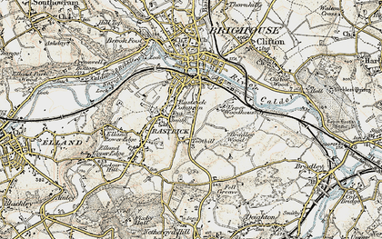 Old map of Toothill in 1903