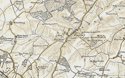Old map of Worley's Wood in 1898-1901