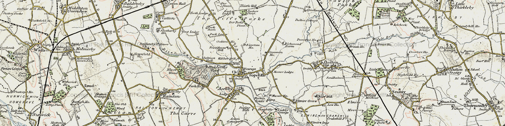 Old map of Topcliffe in 1903-1904