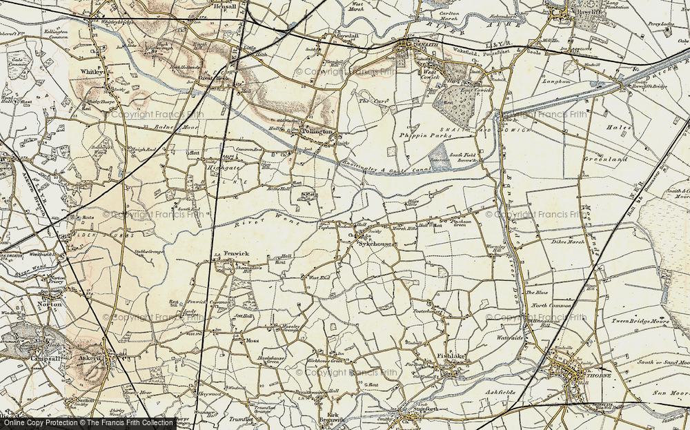 Old Map of Historic Map covering Balne Lodge in 1903
