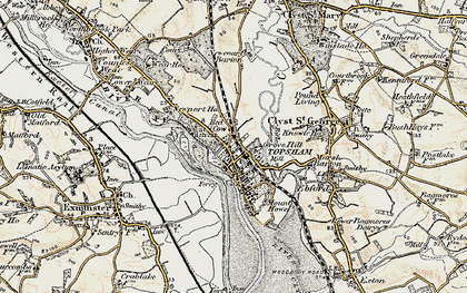 Old map of Topsham in 1899