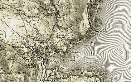 Old map of Tom Cave in 1908-1909