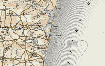 Old map of Limpet Rocks in 1899