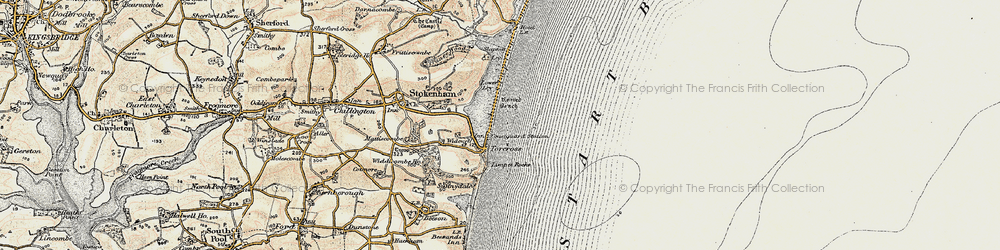 Old map of Torcross in 1899