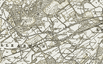 Old map of Allanbank in 1911-1912