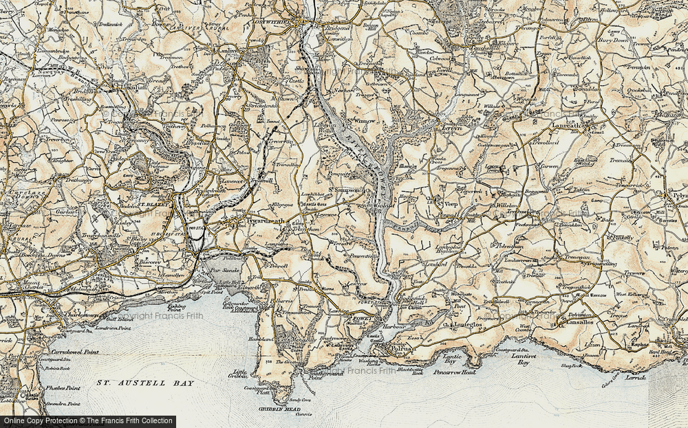 Old Map of Historic Map covering Leyonne in 1900