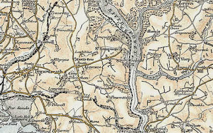 Old map of Torfrey in 1900