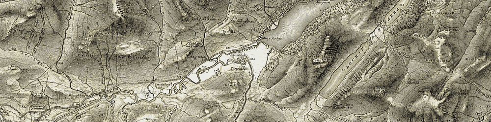 Old map of An Geurachadh in 1906-1908