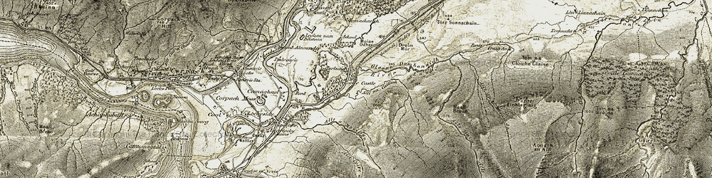 Old map of Tomacharich in 1906-1908