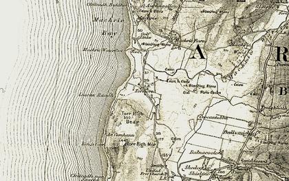 Old map of Leacan Ruadha in 1905-1906