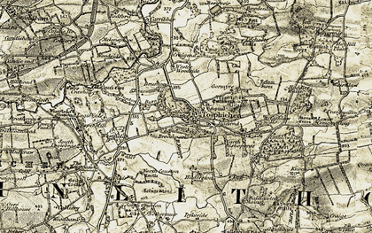 Old map of Wester Woodside in 1904