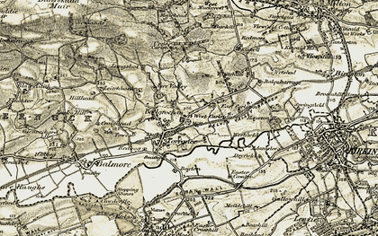 Old map of Acre Valley Ho in 1904-1907