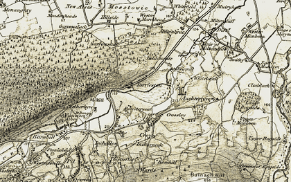Old map of Auchtertyre in 1910-1911