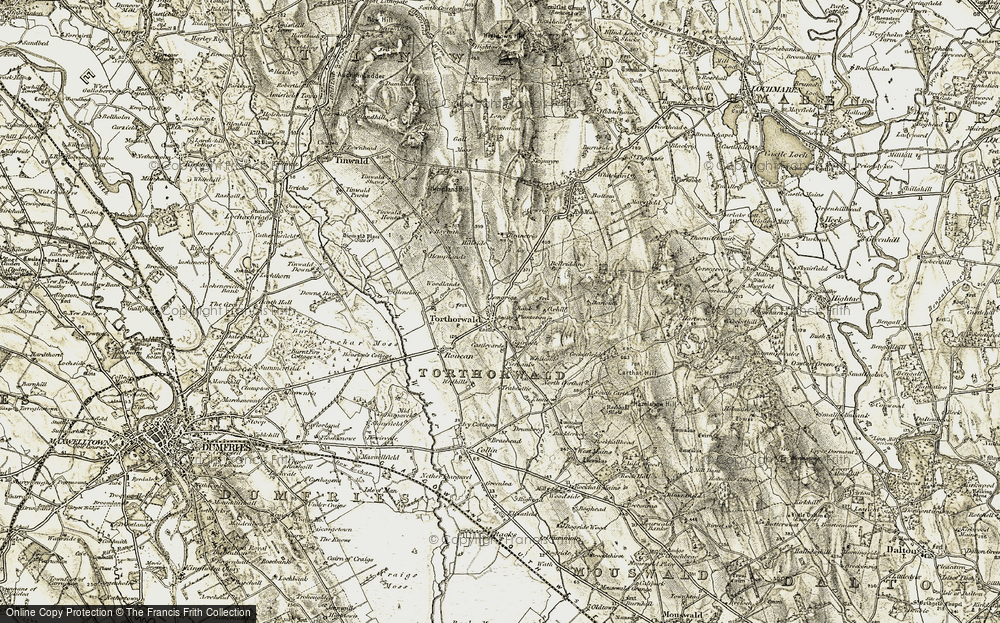 Old Map of Historic Map covering Bank Plantn in 1901-1905