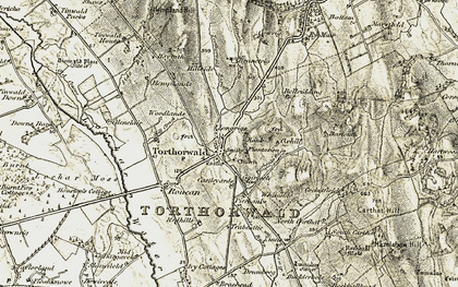 Old map of Tinlaw in 1901-1905