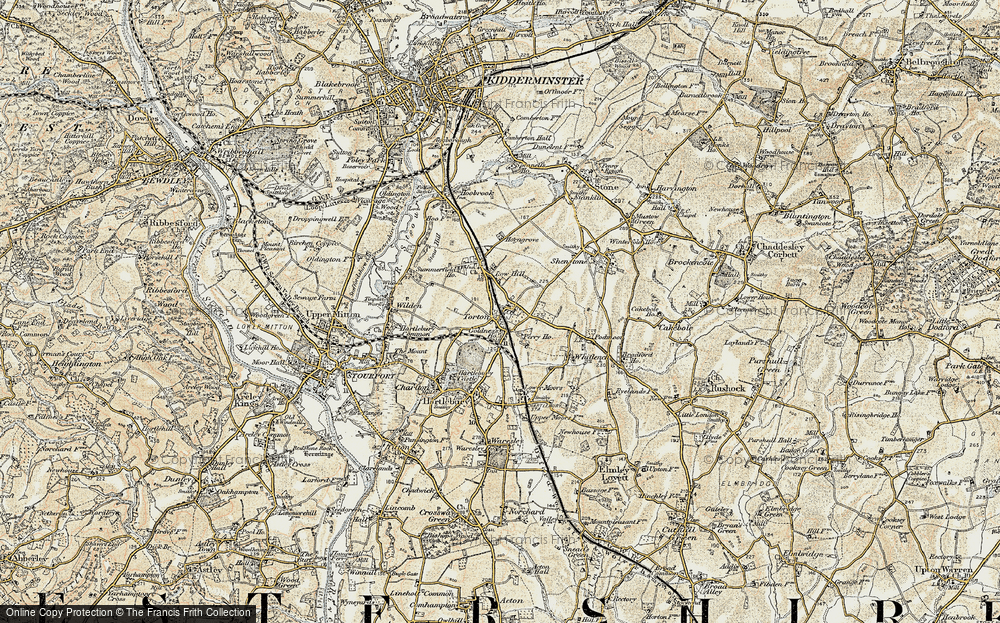 Old Map of Historic Map covering Whitlenge Ho in 1901-1902