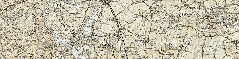 Old map of Whitlenge Ho in 1901-1902