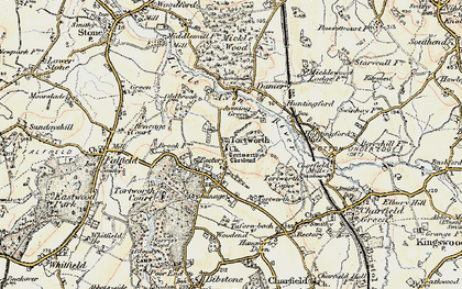 Old map of Tortworth in 1899