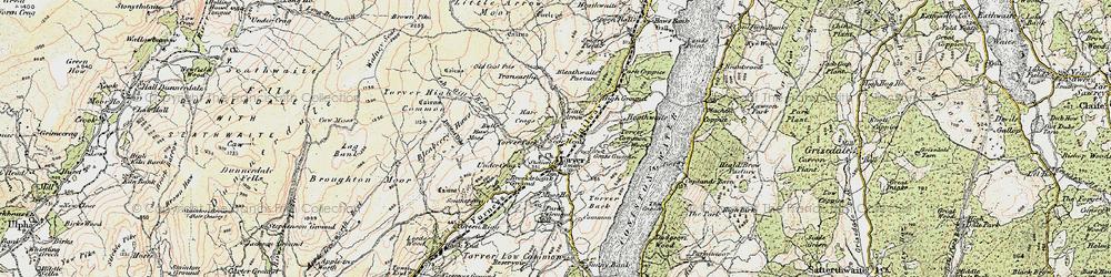 Old map of Torver in 1903-1904