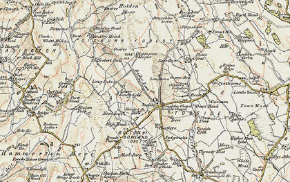 Old map of Whelp Stone Crag in 1903-1904