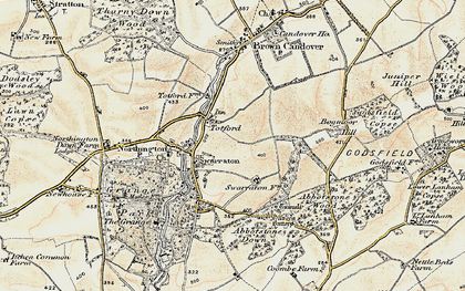 Old map of Abbotstone Down in 1897-1900