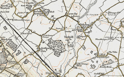 Old map of Toot Hill (Motte and Bailey) in 1902-1903