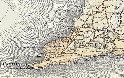 Old map of Totland Bay in 1899-1909