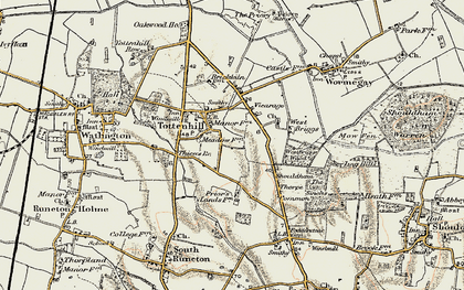 Old map of Westbriggs Wood in 1901-1902