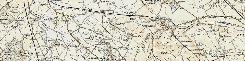 Old map of Totternhoe in 1898-1899