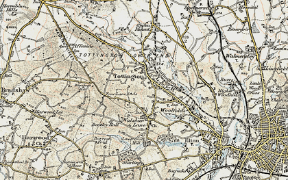 Old map of Tottington in 1903