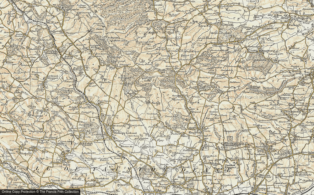 Old Map of Historic Map covering Badger Copse in 1898-1900
