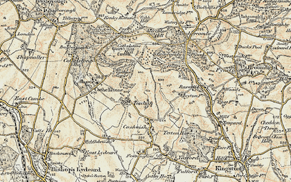 Old map of Badger Copse in 1898-1900