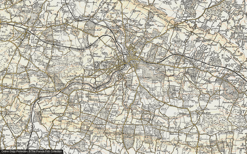 Old Map of Historic Map covering Abbey Gate Place in 1897-1898