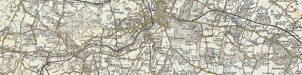 Old map of Abbey Gate Place in 1897-1898