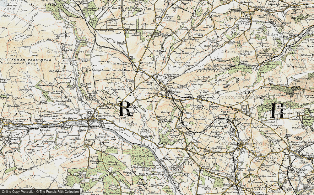 Old Map of Tow Law, 1901-1904 in 1901-1904